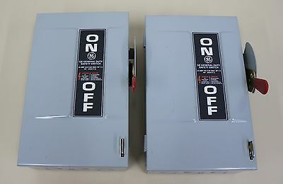 1 Pc Ge Safety Switch Tg3221 30 Amp 240V Non Fusible