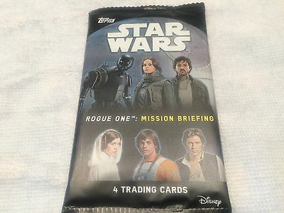 "L@@k Topps Star Wars ""rogue One: Mission Briefing"" Factory Sealed Packet"