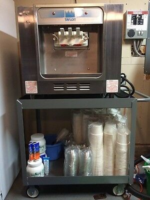 Taylor 162 Soft Serve Machine - great condition, includes steel cart + more