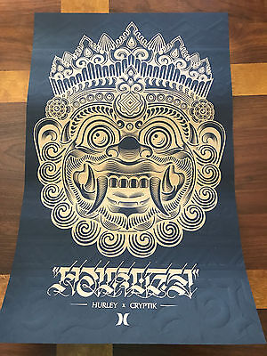 "CRYPTIK Art Poster Print Gold on Black for Hurley 14"" X 22"""