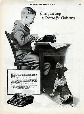 1925 Corona Typewriter Ad --The Quality as the Large Corona but Smaller ---v26