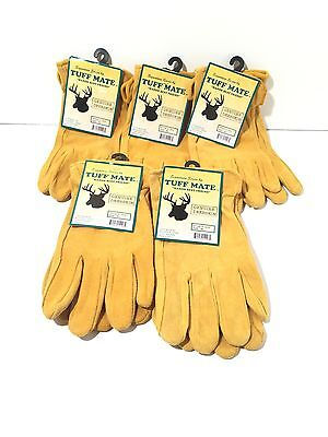 Deerskin Leather Work gloves EXTRA LARGE Tuff Mate XL