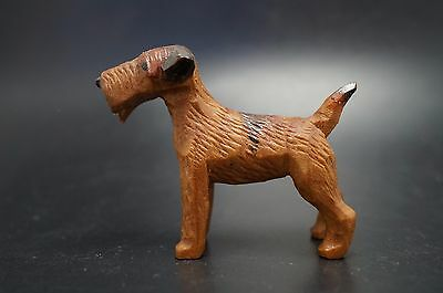 VTG Wood Carved AIREDALE Terrier DOG Irish Lakeland Welsh