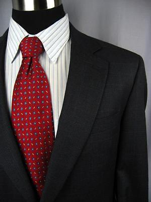 Flawless $895 JOS A BANK SIGNATURE Navy Plaid 2 Button Wool Suit 40S   #E299