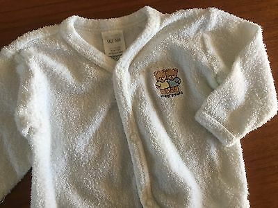 Size 000 ~ BONDS ~ White Classic Terry Fabric Cardigan / Top ~ EUC!