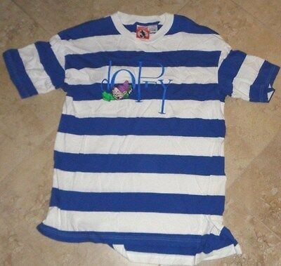 Disney Striped Embroidered Dopey t-shirt Adult S/M Small/Medium
