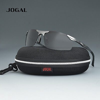 JOGAL Mens Aluminum Magnesium Frame Polarized Sunglasses Sports Riding Eyewear A