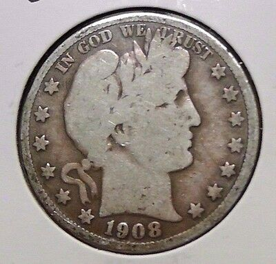 1908-S 50C Barber Half Dollar - Nice original coin!!