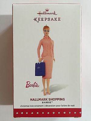 "2015 Hallmark ""Shopping Barbie"" Keepsake Ornament - Very Detailed! - New In Box!"