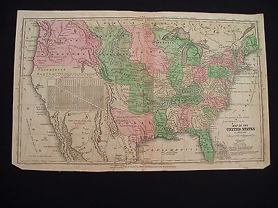 1840 Robinson Olney Map United States Republic of Texas Territories 177 Yrs Old