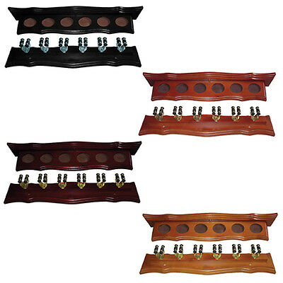 Formula Wall Cue Rack+Brass Cue Clips for Pool Snooker Billiard Free Post AU