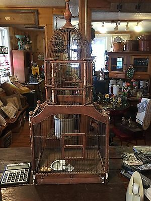 Antique wooden Victorian Birdcage