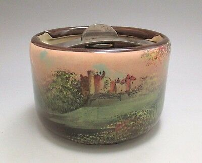 Antique ROYAL DOULTON 'Ardencapel Castle' Landscape Scene Tobacco Jar ca.1920's