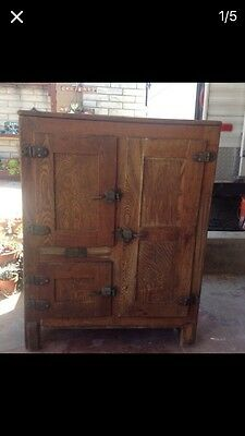 Economic Antique Ice Box 1919 Oak Solid Wood