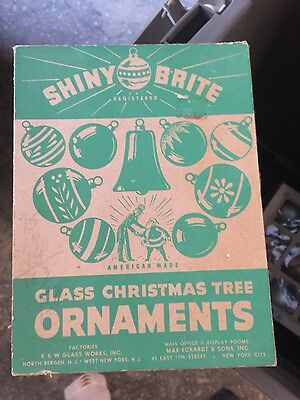 12 Vintage Shiny Brite Gold and Pink Christmas Ornaments in Box