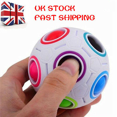 Spheric Ball Rainbow Magic Cube 3D Puzzle Twist Toy Brain Teaser Kids Gift Toy