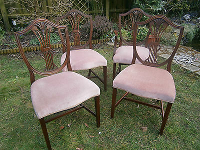 Bevan Funnell Reprodux Dining Chairs Set Of 3 Plus 1 Carver Chair With Arms