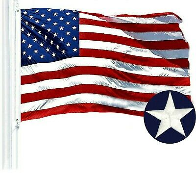 G128 – American Flag US USA | 3x5 ft | Embroidered Stars, Sewn Stripes