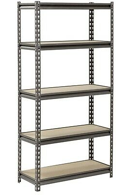 Muscle Rack 5 Shelf Boltless Steel Shelving Unit, 60 in. H x 30 in. W x 12 in. D