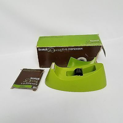 New Vintage 3M Scotch Tape Dispenser Model C-15 Mint Green- Mid Century Office