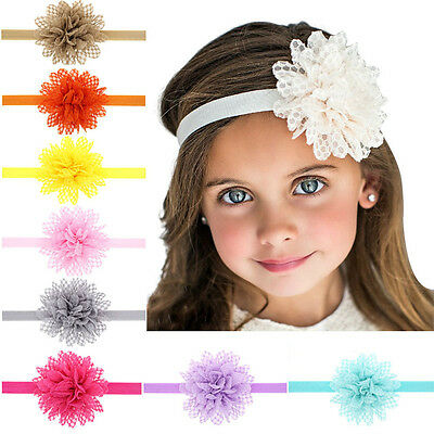 Baby Toddlers Girl Lace Flower Elastic Headband Hair band hair Accessory Gift