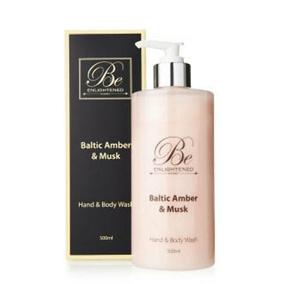 New Be Enlightened Baltic Amber & Musk Hand & Body Wash by 500ml OFFICIAL STORE