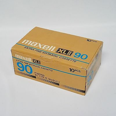 Box of 10 New Maxell XLII-90 Extra Fine  Cassette Blank Tapes - Factory Sealed