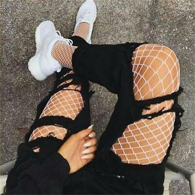 Women Ladies Black Fishnet Tights Net One Size Pattern Burlesque Hoise Pantyhose