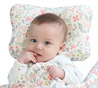 Baby Pillow For Newborn Breathable 3-Dimensional Air Mesh Organic Cotton-Pink