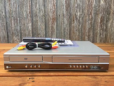 Serviced LG V271 Combo VCR DVD player + Video Recorder + Remote + RCA B
