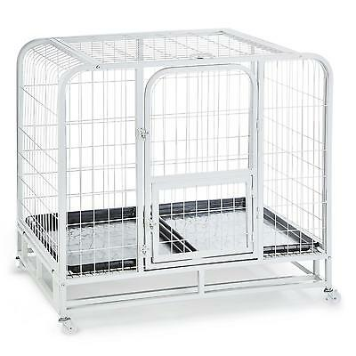 Pet Supplies Dog Cat Animal Cage Training Travel Easy Clean Metal Mesh 2 Trays