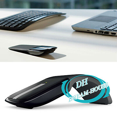 Foldable Optical Wireless Mouse USB Receiver Arc Touch 2.4GHZ 1000dpi Computer