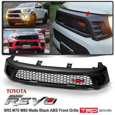 For 4x4 TOYOTA Hilux Revo SR5 M70 M80 Matte Black ABS Front Grille TRD 2015-ON