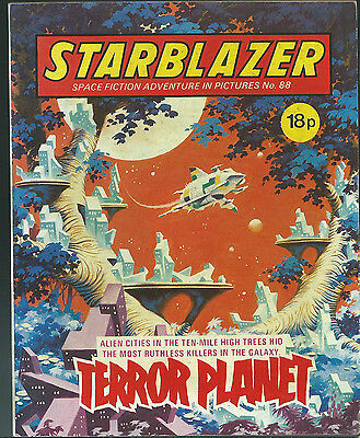 Terror Planet,no.88,starblazer Space Fiction Adventure In Pictures,comic