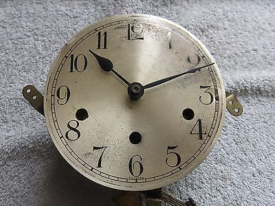 Vintage Haller Clock Brass Movement With Westminster Chimes With Face & Hand