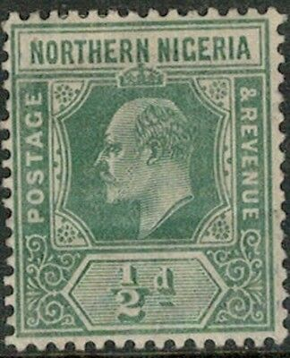 Lot 4104 - Northern Nigeria - 1910 ½d green King Edward VII Mint Hinged Stamp