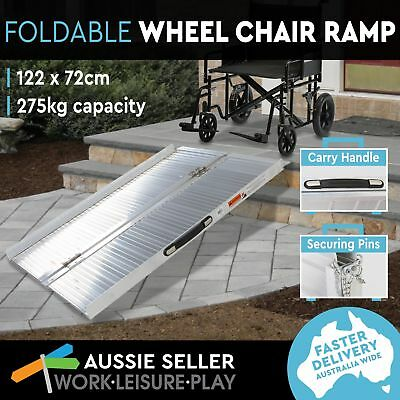 Wheelchair Ramp Portable Aluminum Mobility Scooter Folding Holds 275kg 122X72CM