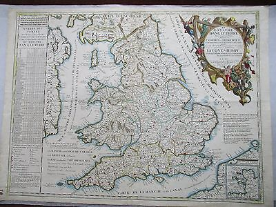 Antique map of England, Vincenzo Coronelli, 1692
