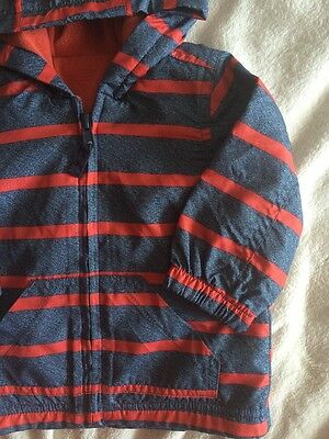 George Baby Boys Summer Hooded Jacket Size 3-6 Months Vgc