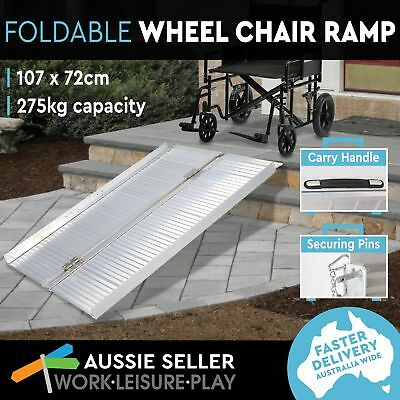 Portable Aluminum Wheelchair Mobility Scooter Ramp Folding Holds 275kg 107X72CM