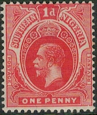 Lot 4115 - Southern Nigeria - 1910 1d red King George V Mint Hinged Stamp