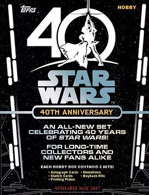 2017 Topps STAR WARS 40th ANNIVERSARY HOBBY CASE Factory-Sealed 8-Box Case