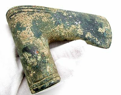Pre-Persian Bronze Age Military Socketed Axe Head - Rare Ancient Artifact - F252