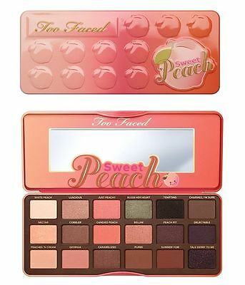 2017 Too Faced Sweet Peach Glow Highlighting Eyeshadow Makeup Collection Palette