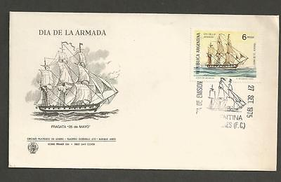 ARGENTINA - 1975 Navy Day    - FIRST DAY COVER.