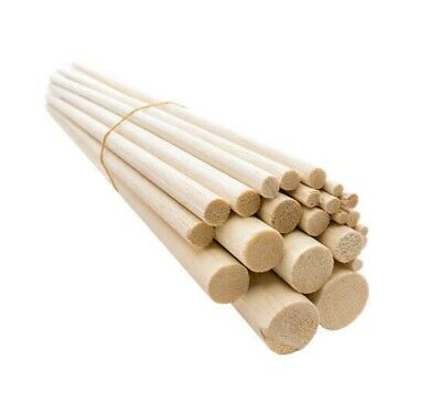 10cm 100mm Wooden Balsa Dowels Stick Tree Crafts Models 5mm 6mm 8mm 10mm - 25mm