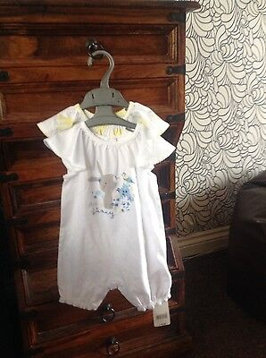 Baby Girls 2 Pack Romper Suits New With Tags Upto 3 Months