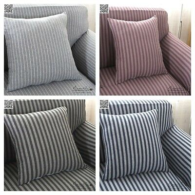 Striped Stretch Lounge Sofa Couch Cover Slipcover Loveseat Recliner 1 2 3 Seater