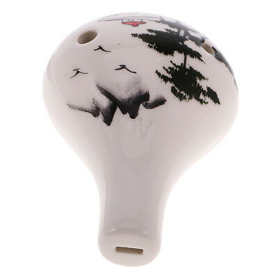 6 Hole Ceramic Ocarina Music Instrument,Water Drop best Gift for Collectors