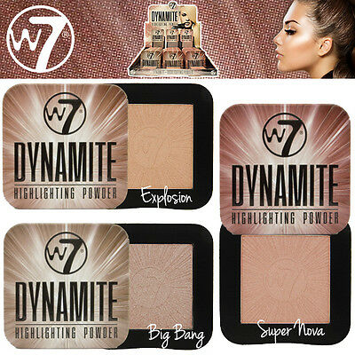 W7 Cosmetics Dynamite Cheekbones Highlighting Face Powder - Choose Your Colour